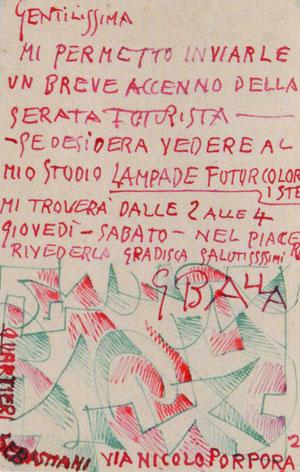 Cartolina a Clara Caillot (retro)