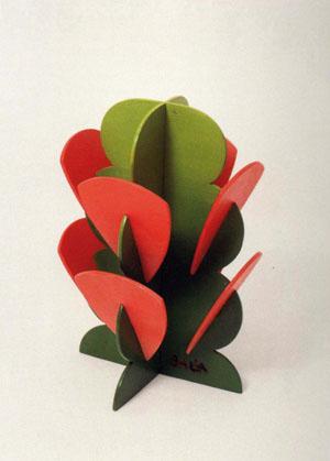 Fiore futurista arancione e verde