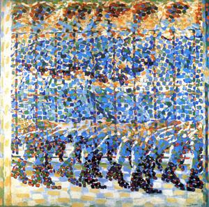 Bambina moltiplicato balcone