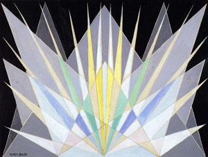 Senza titolo (Studio per Compenetrazione iridescente radiale - vibrazioni prismatiche)