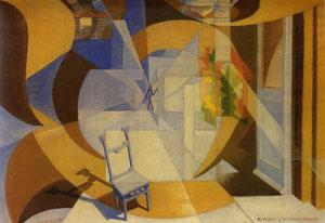 Giacomo Balla, La seggiola dell'uomo strano, 1929