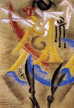Gino Severini, Danzatrice + Scomposizione futurista, 1913