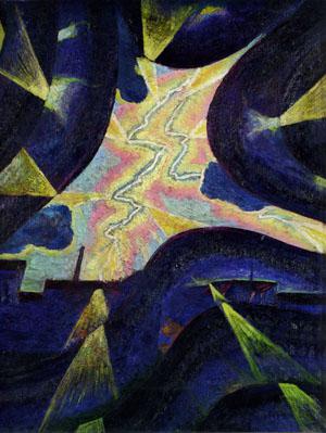 Luigi Russolo, Linee forza della folgore, 1912