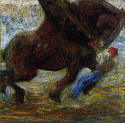 Umberto Boccioni, Gigante e pigmeo, 1910