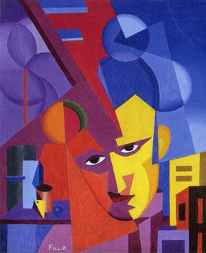 Fillia - Luigi Sansone, Autoritratto, 1925-26