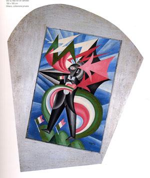 Fortunato Depero,Marinetti temporale patriottico, Ritratto psicologico, 1924