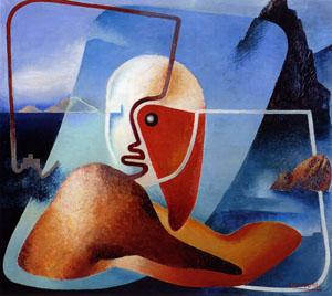 Enrico Prampolini, Ritratto di Marinetti poeta nel Golfo della Spezia, 1933-1934