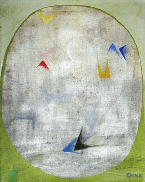 Finestra aperta e volo di rondini, 1918-1920