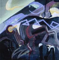 Julius Evola, (astrazione - paesaggio)
