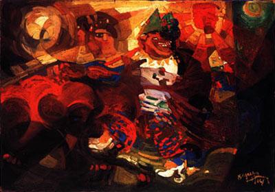 Fortunato Depero, Ritmi di ballerina  +  clowns  (lato 1)