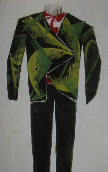 Bozzetto per vestito da uomo