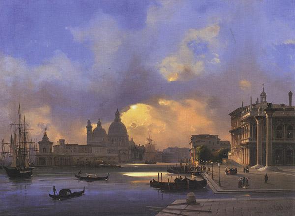 Venezia – Il molo al tramonto