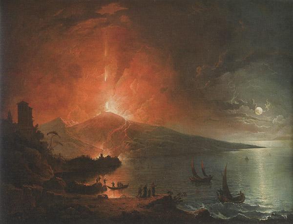Eruzione notturna del Vesuvio
