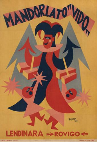 Affiche publicitaire pour le nougat Vido