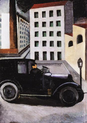Paysage urbain au taxi
