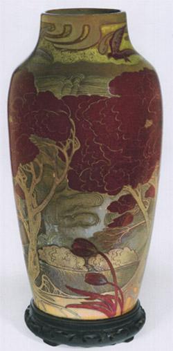 Vase (Paysage lacustre violet)