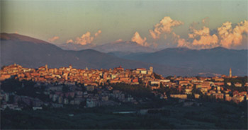 Tramonto a Perugia