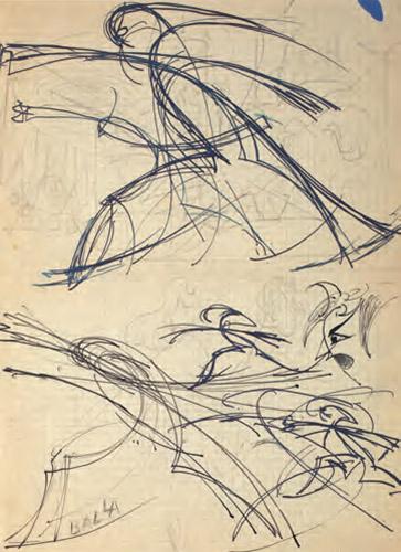 Pugno di Boccioni (due studi)