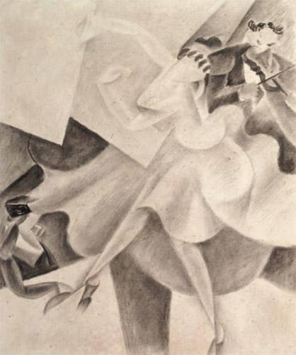 Danseuse et violoniste