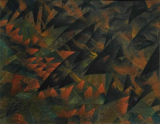 Eroismo, tragedia, follia, ossessione, asfissia, 1914