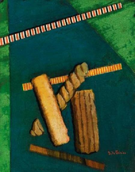 Composizione metafisica con biscotti e mostrine