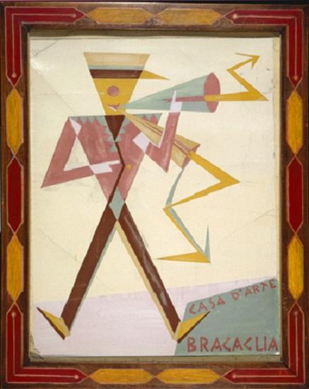 Bozzetto Di Manifesto Per La Casa D'arte Bragaglia