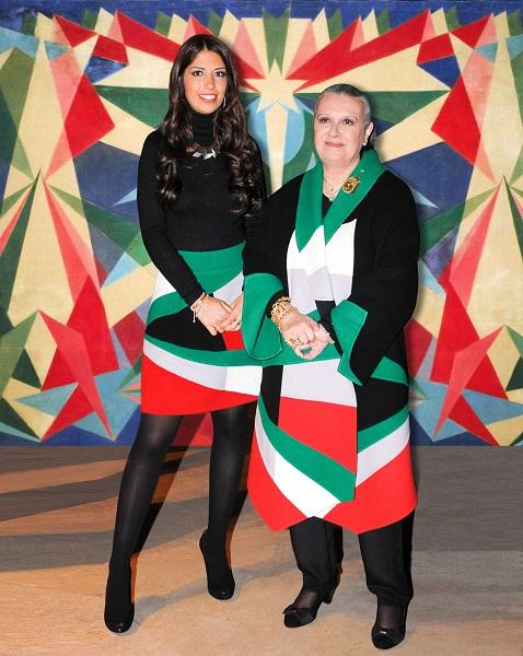 Laura e Lavinia Biagiotti con Genio Futurista