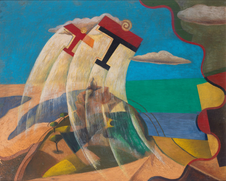 Paesaggio siciliano + aerei caproni