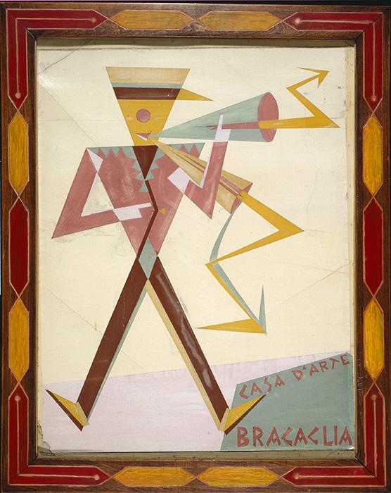 Bozzetto di manifesto per la Casa d Arte Bragaglia