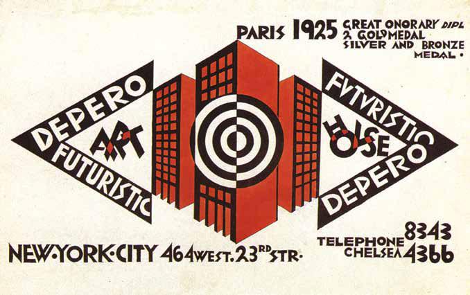 Auto-pubblicità per la Depero Futuristic House