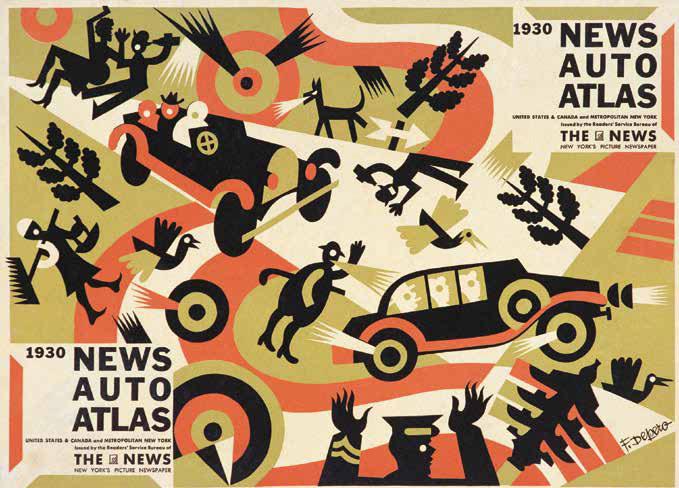 Prima e quarta di copertina per l'Auto-Atlas 1930 del The News
