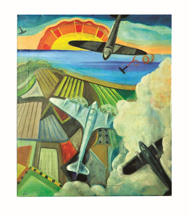 Battaglia aerea sul mare-lago