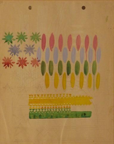 Compenetrazione iridescente - studio (recto)