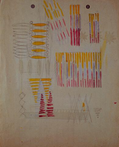 Compenetrazione iridescente - studio (verso)