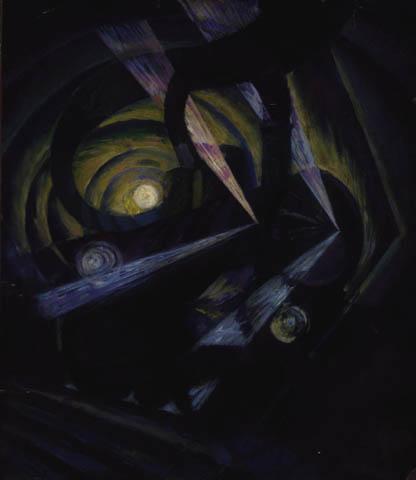 Dinamismo di un treno in corsa nella notte