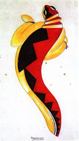 Bozzetto di costume de 'La salamandra giovane'