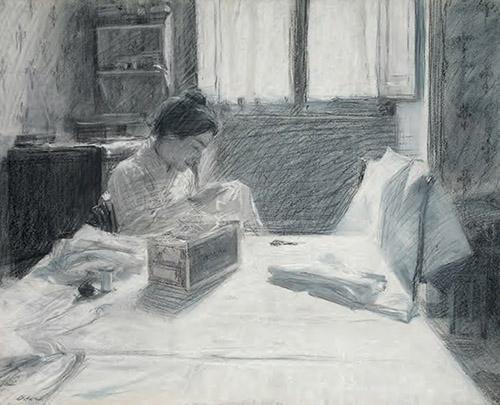 Quiete operosa (Ritratto di Elisa; Primo ritratto di Elisa che cuce