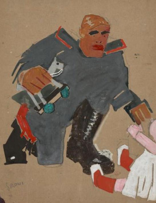Soldato e bambina
